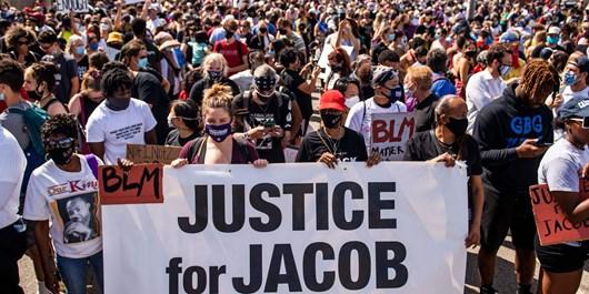 تظاهرات آمریکا جیکوب بلیک