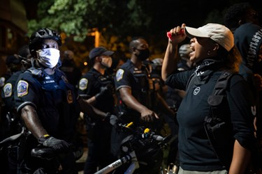 Protesters Gather Outside DC Police Station after Officer Fatally Shoots Person