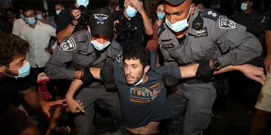 دستگیری معترضان در اسراییل