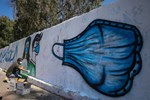 Graffiti: Blockaded Gaza Records 108 New COVID-19 Infections