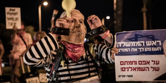 Demonstrators Denounce Netanyahu for Untimely Trip to US Amid Coronavirus