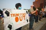 US: Anti Trump, BLM Protesters Demonstrate in Philadelphia