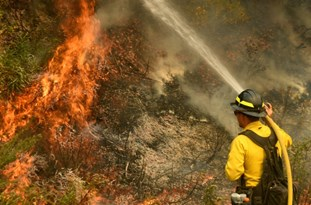 Firefighter Dies Battling Blaze, Another Fire Burns Homes in California
