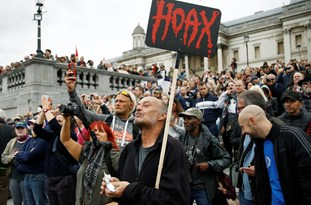 Protesters March Against COVID-19 Measures in London
