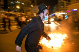 Israel: Streets on Fire as Protest Against COVID-19 Restrictions Hits Bnei Brak