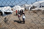 Moria Camp Migrants Pour into Temporary Shelters