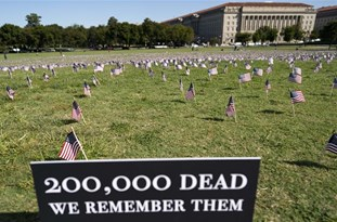 US COVID-19 Deaths Memorialized on National Mall as Toll Passes 200,000